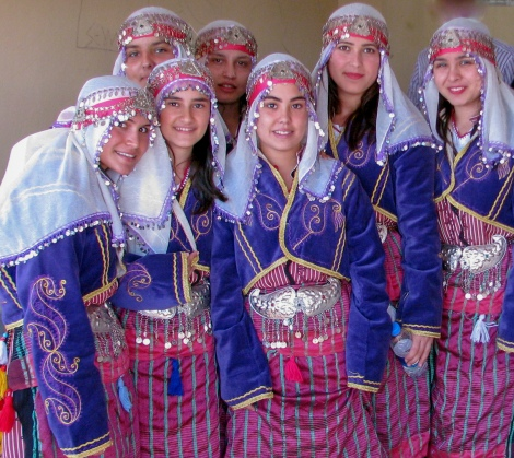 Students in traditional costume.