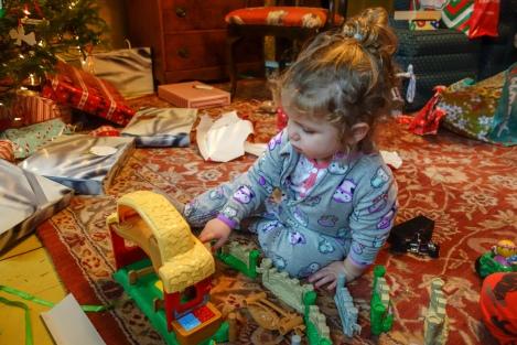 Aylin at play on Christmas Day.
